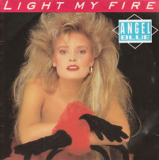 """7"""" 45 TOURS FRANCE ANGEL BLUE """"Light My Fire / Tell Me Something"""" 1988 THE DOORS"""