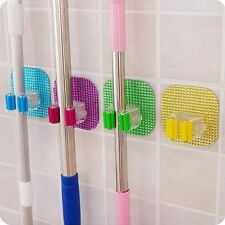 Adhesive Home Organization Mop Hook Hanger Storage Rack Wall Mounted Seamless