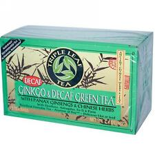 Triple Leaf Tea, Ginkgo & Decaf Green Tea, 20 tea bags