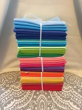 Bundle Lot of Quilting Fabric 100% Cotton ~ 20 Fat Quarters ~ Kona Solids