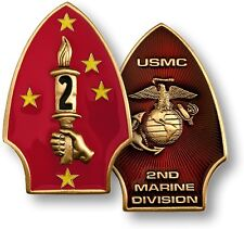 NEW USMC 2nd Marine Division The Silent Second Challenge Coin. 60620