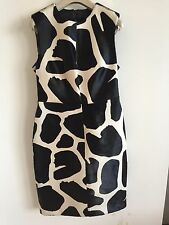 BURBERRY PRORSUM WOMENS AW13 CALF HAIR LEATHER ANIMAL PRINT DRESS £3495 RETAIL!