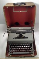 Grey Royal Arrow Manual Portable Typewriter in Case  Glass Keys Touch Control