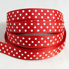 Free shipping wedding festival 5 Yards 3/8''10mm dot Grosgrain Ribbon LE170
