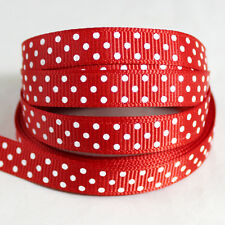 "Free shipping wedding festival 5 Yards 3/8""(10mm)Grosgrain Ribbon  QA229"