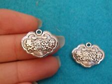 10 chinese long lock charms pendant beads Tibetan silver antique wholesale UK