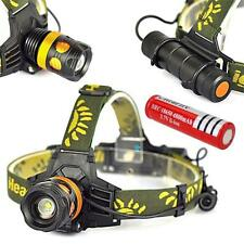 3000lm XML T6 LED 3in1 Zoomable Headlamp Headlight Flashlight + 18650 Battery TR
