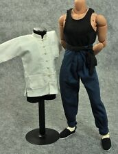 ZY Toys Bruce Lee 1/6 Enter the Dragon White Suit Enterbay Kung Fu Hot Costume