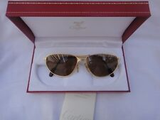 VINTAGE CARTIER PANTHERE WINDSOR 59MM CAT EYE SUNGLASSES FRANCE 18K HEAVY PLATED