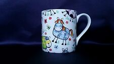 Bone China tazza Funny Farm Animali Mucca Cavallo Motivo Decorato a Mano Regalo In Galles