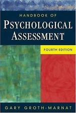 Handbook of Psychological Assessment, Gary Groth-Marnat, 0471419796, Book, Accep
