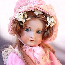 ANTIQUE JUMEAU BISQUE DOLL LARGE JUMEAU BEBE DIPLOME  23.6 ORIG CLOTHES
