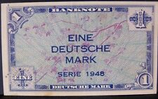 1948 Germany 1 Deutsche Mark Banknote (VF+) CRISP  P-2   ** FREE U.S SHIPPING **