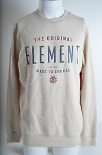 2015 NWT MENS ELEMENT BUILT PULLOVER SWEATER $55 M oatmeal heather screen print
