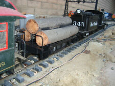 BACHMANN EXCLUSIVE TRACK CLEANER LOG CAR BEST MADE W/REAL LOGS, METAL WHEELS NEW