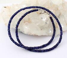 SAPHIRKETTE edelsteinkette Fecettierte Rondell blau Saphir kette saphire Top Neu