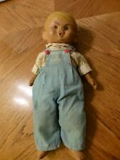 "VINTAGE DENNIS THE MENACE DOLL - SOFT SKIN WITH OVERALLS - 16"" TALL"