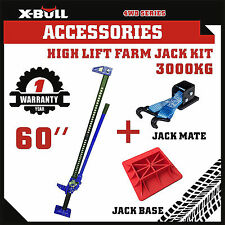 "X-BULL 3000Kg Hi Lift High Farm Jack 60"" inch With Base Jack Mate Heavy Duty 4WD"