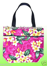 Medium size reversible Hawaiian print Tote Bag - 161Pink