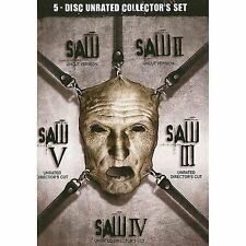 SAW Horror Series Complete Movies 1 2 3 4 5 Unrated Uncut I-V DVD Box Set NEW!