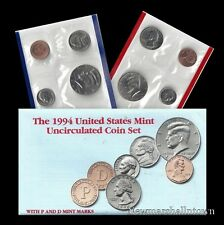 1994 P+D U S Mint Set ~ Kennedy Washington Roosevelt Jefferson Lincoln U S Coins