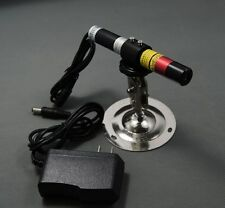 660nm 200mW Focusable Red Laser Module with Bracket & Power Adapter/Line Effect