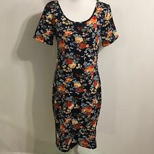 Tom's Ware Dress Extra Large (XL) Blue Floral Roses Slip on Stretchy Soft