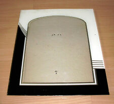 "Antique Art Deco 10"" x 12"" Glass Picture Frame Reverse Painted"