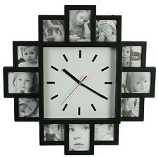 Personalised Pictures Photo Gallery Wall Clock Home Bedroom Kitchen Time Display