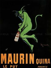 ADVERT MAURIN LE PUY QUINA ALCOHOL CAPPIELLO FRANCE POSTER ART PRINT BB1902A