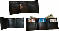 Lot of 3 New Trifold Leather Men's wallet, billfold change purse bi-fold wallet*