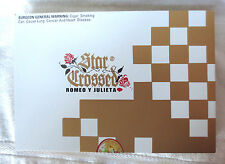 ROMEO Y JULIETA STAR CROSSED ELEGY WOOD CIGAR BOX GOLD & WHITE -  BEAUTIFUL!!!