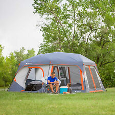 Instant Cabin Tent 10 Person Outdoor Camping Family Shelter With Light Hiking