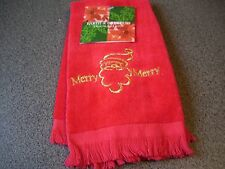 Christmas Santa Claus Merry Merry Finger Tip Towel