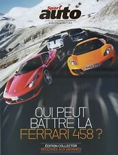 SPORT AUTO n°601 FEVRIER 2012 FERRARI 458 ITALIA MAC LAREN MP4-12C