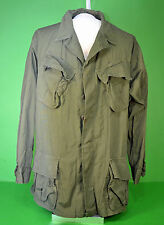 Vietnam War Army 3rd pattern tropical Combat Coat non-ripstop poplin SMALL LONG