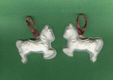 Carousel horse ornaments plaster of Paris painting project. Set of 6!
