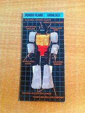 TRANSFORMERS GENERATION 1, G1 AUTOBOT PARTS GRIMLOCK ACTIONMASTER POWER PLANS