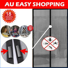 2X Black Magnetic Fly Screen Magic Magna Mosquito Bug Mesh Door Curtains new2014