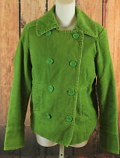Gap Green Quilted Corduroy Jacket Womens Size Medium Double Breasted