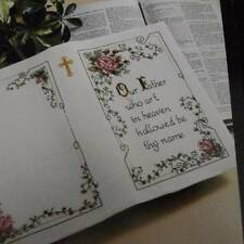 Bucilla 40713 Bible Cover Kit Our Father Cross Stitch NEW Open Package