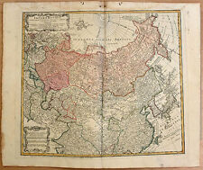 Carte ancienne HOMANN ant. map c1775 EMPIRE RUSSE RUSSIA SIBÉRIE TARTARIE JAPON
