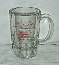 """Trappe Tavern Beer Stein Mug Glass Vtg 1967 Glass 250th Anniversary 5"""" Cup"""