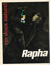 PUBLICITE ADVERTISING 124  1959   RAPHA   vindoux naturel
