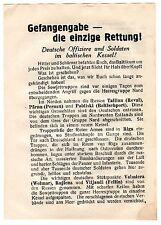 2 ) ORIGINAL  -  RUSSIAN RED ARMY  LEAFLET FOR NAZI GERMAN TROOPS WW II  ITEM