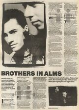 15/4/89Pgn16 Article & Picture 'brothers In Alms' Brother Beyond Good Time Teen
