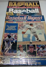 3 Pack of vintage Baseball Magazines - Baseball Digest 1987 + plus two more mags