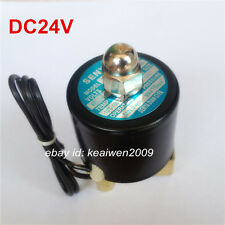 """Pneumatic Electric Solenoid Valve NC DC24V 1/4"""" 2W-025-08 f Water Air Gas Diesel"""
