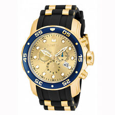 Invicta 17881 Men's Champagne Dial Gold Steel & Rubber Strap Watch