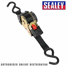 Sealey Auto Retract Ratchet Tie Down Strap 600kg Capacity 25mm x 3m  TD25301